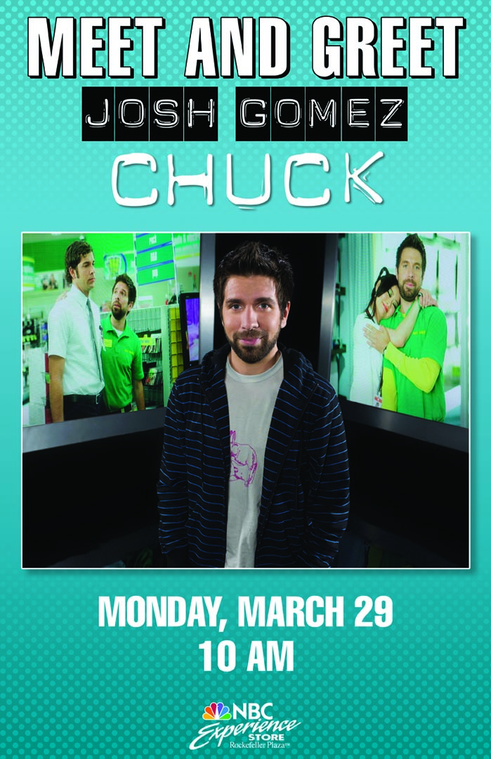 Joshua Gomez in NYC March 29th!
