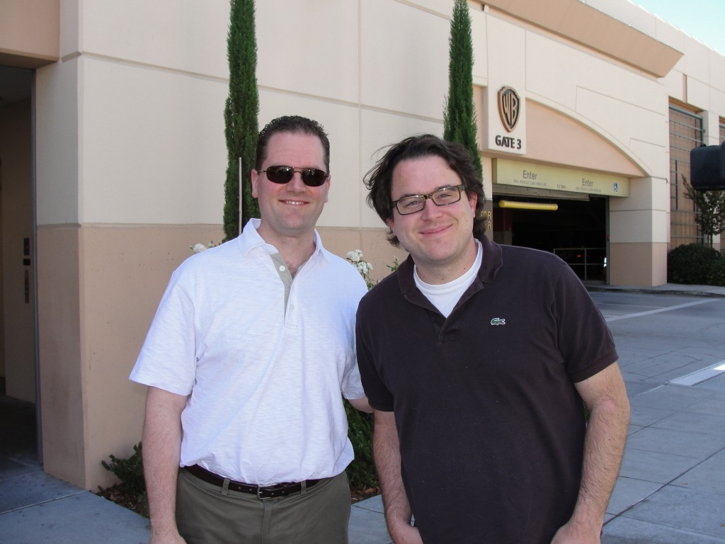 Me with Chuck co-creator Chris Fedak, outside WB studio